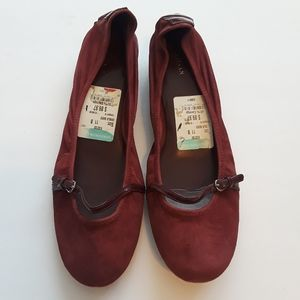 Cole Haan Nike Air   oxblood suede shoes